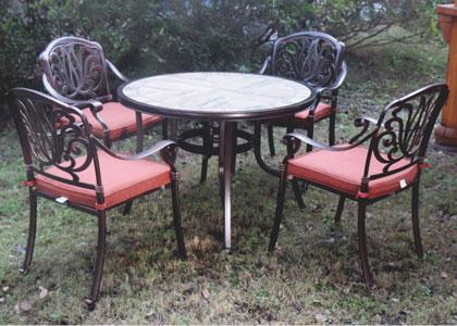 田园风户外红木圆桌家具